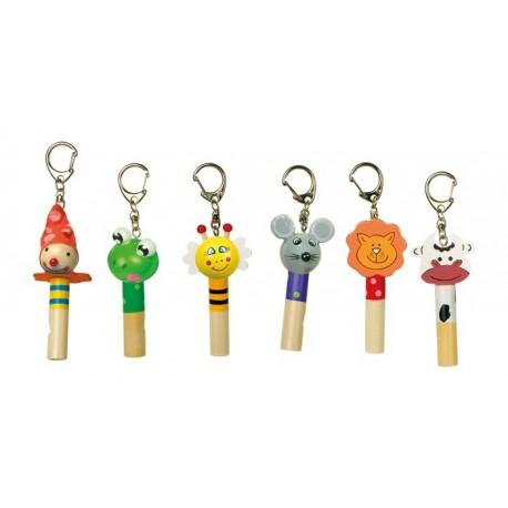 Porte-clés sifflet Flûtes en bois