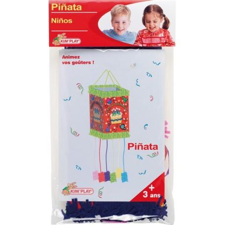Pinata Mixte Avec 8 Ficelles à Tirer Vendue Vide