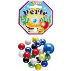 20 billes «perle» noires