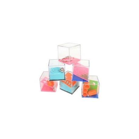 Jeu de patience, cube casse tête 4x4x4cm, 24 modèles différents