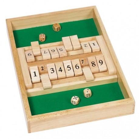 Jeu de dés, Shut the Box : double Jeu, jeu en bois, ferme la boite, Goki