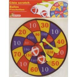 Cible scratch 30 cm + 2 balles