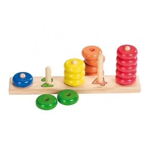 Formes à empiler, Goki : apprendre à compter avec les anneaux