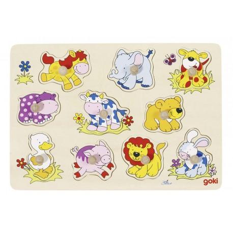 Puzzle à emboîter 10 Animaux, Goki