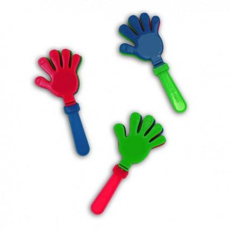 Castagnette à main, longueur 14,5 cm, main de 7 cm, 3 claps