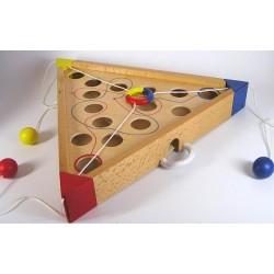 Tricours en bois, jeu d'habileté