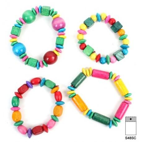 Bijou bracelet en bois, tour de poignet 16 cm, bracelet extensible