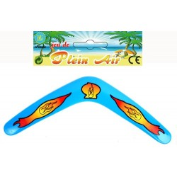 Boomerang australien, 30 cm, 4 coloris : jaune, orange, bleu, vert