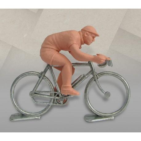 Cycliste dissociable plastique (sprinteur) + vélo métal, échelle 1/32