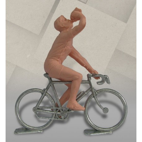 Cycliste dissociable plastique (bidon) + vélo métal