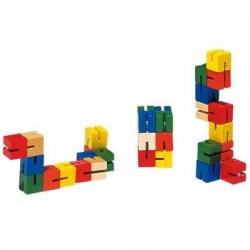 Cube puzzle de poche en bois
