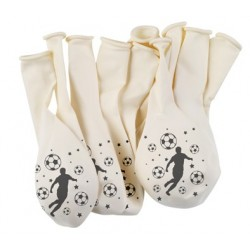 Ballon imprimés foot (x10)