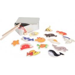 Pêche à la ligne boite cadeau, mer