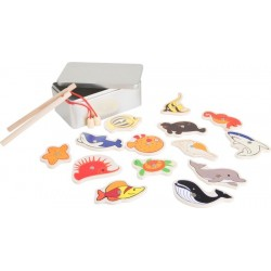 Pêche à la ligne magnétique, boite métal, mer