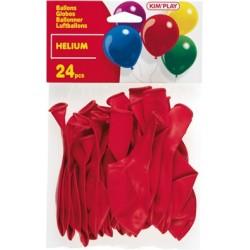 Ballons hélium rouge (x24)