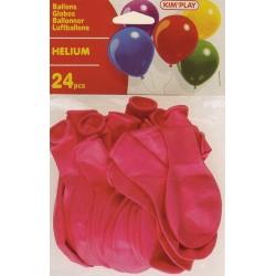 Ballons hélium rose (x24)