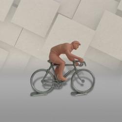 Cycliste rouleur dissociable + vélo métal 1/32