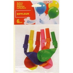 Ballons Siffleur (x6)