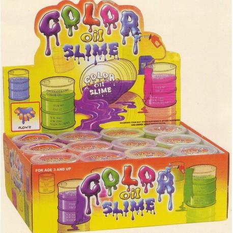 Baril Slime, 12 pots de pâte visqueuse