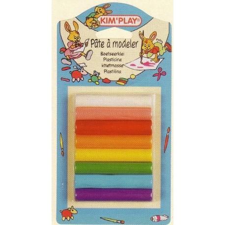 Pâte à modeler 8 bâtons de couleurs différentes (8 cm x 1 cm)