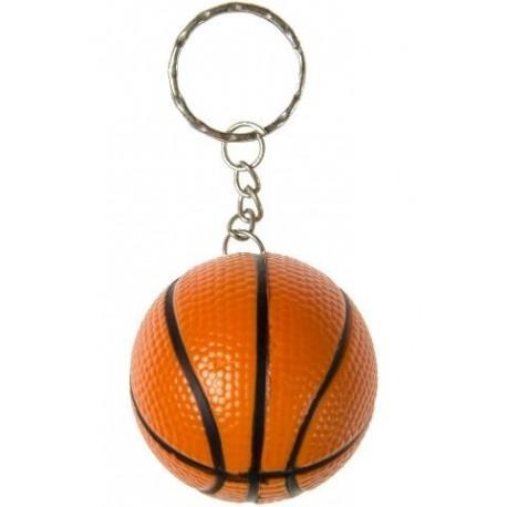 Porte clé ballon de Basket, mousse, 4 cm