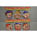 Masque clown en carton 21 x 19 cm (x6)