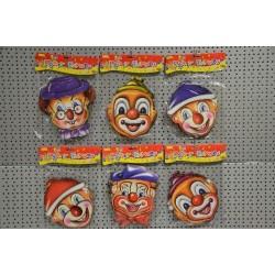 Masque clown en carton 21 x 19 cm (x6)