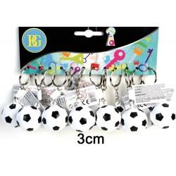 Porte clé ballon foot plastique, 3 cm (x12)