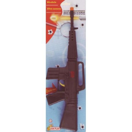 Mitraillette SWAT, 42 cm, bruit de rafale