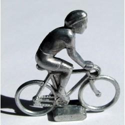 Mini cycliste métal, position rouleur