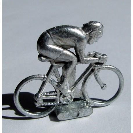 Cycliste métal, position sprinteur