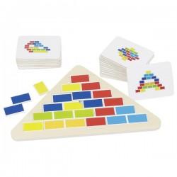 Puzzle triangle segmenté, jeu de logique