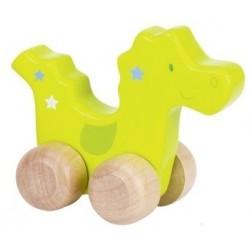 Animal à pousser en bois, dinosaure