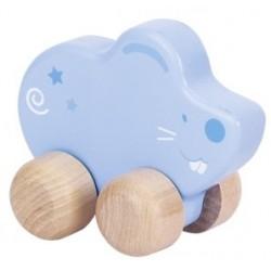 Animal à pousser en bois, souris