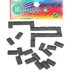 Jeu de dominos en plastique 3,2x1,5 cm
