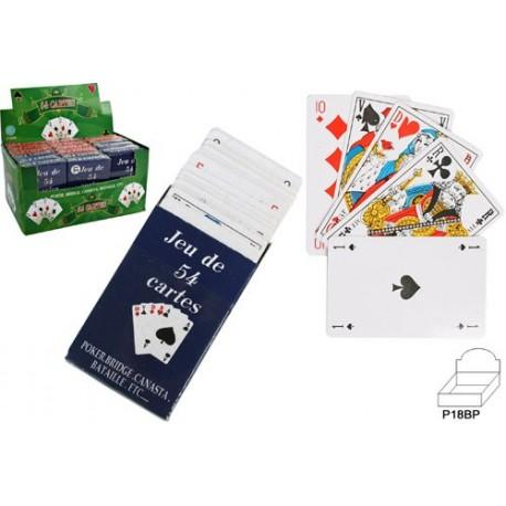 Jeu de 54 cartes à jouer, jeu voyage : belote, coinché, manille, poker