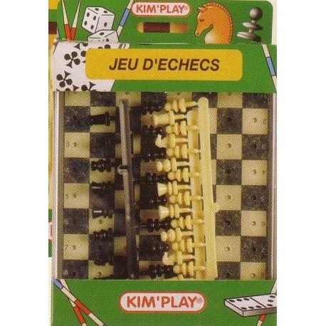 Jeu d'échecs, format voyage, Plateau et boite plastique