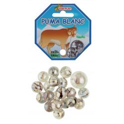 20 billes + 1 calot Puma blanc