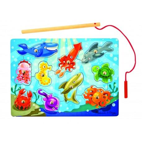 Puzzle magnétique monde marin, avec canne à pêche, Melissa e Doug