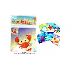 Puzzle océan, 25 pièces, 12,5 x 12 cm