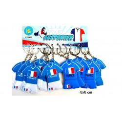 Porte clé maillot de foot, équipe de France