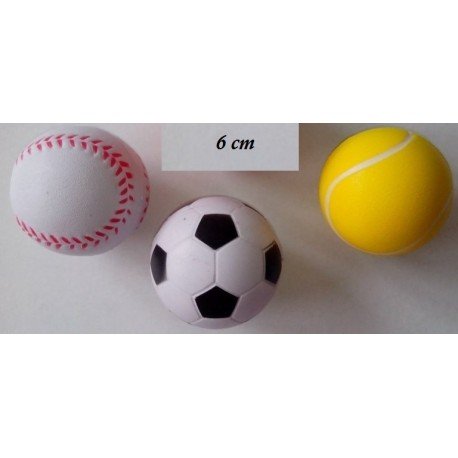 Ballon mousse : tennis, baseball, foot