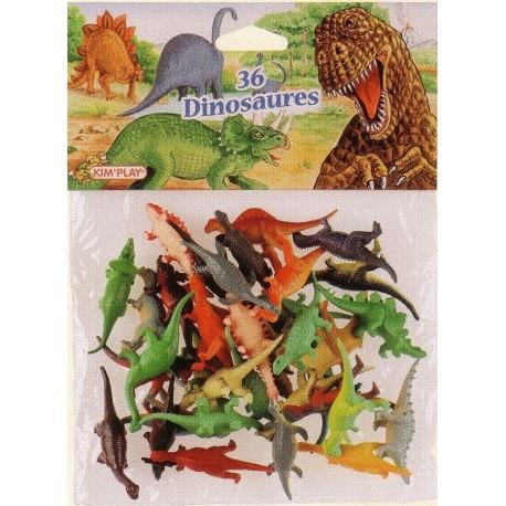 Dinosaures petit modèle (x36), dimensions 4,5 cm