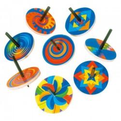 Toupie multicolore
