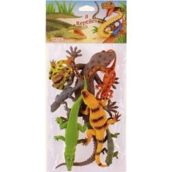 Reptiles maxi (x8), à collectionner ou en cadeau de pêche à la ligne