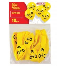 10 ballons à gonfler 0 + 0