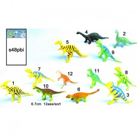 Dinosaure miniature en plastique, 6 à 7 cm