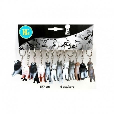 Porte clé chien 5-7 cm (x12)