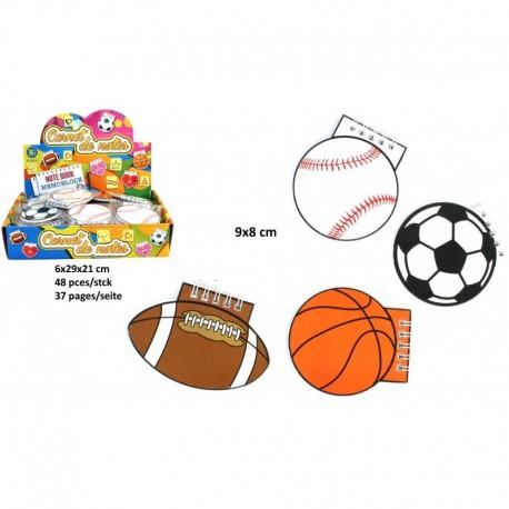 Carnet ballon de sport 37 pages 9 cm