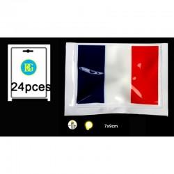 Drapeau de la France lumineux 7 x 9 cm